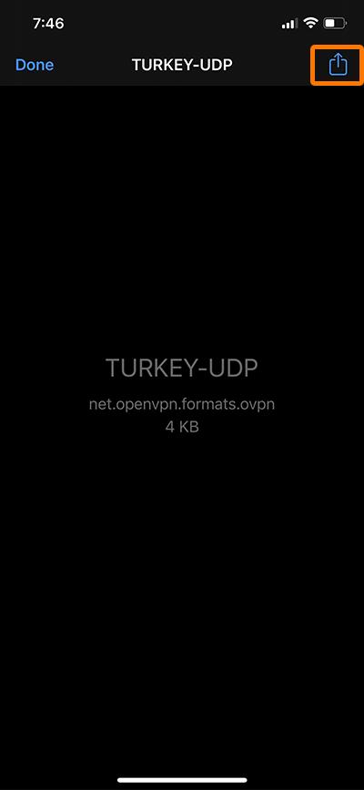 راهنمای استفاده از Open vpn در آیفون - 2