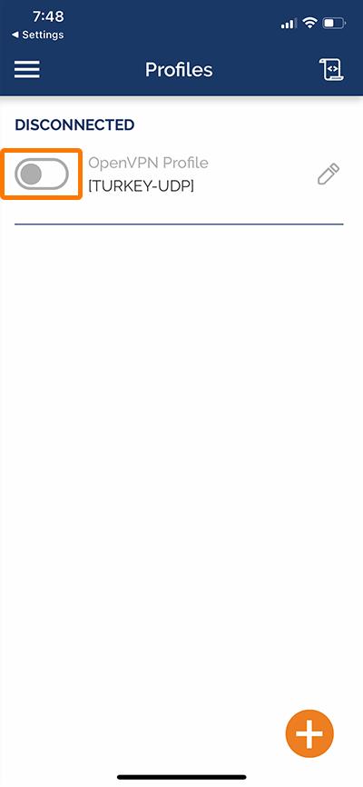 راهنمای استفاده از Open vpn در آیفون - 7